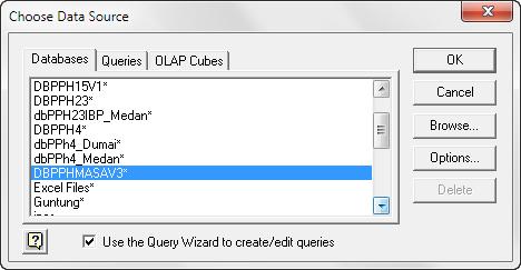 Mengedit Konfigurasi ODBC Untuk Windows 64 bit
