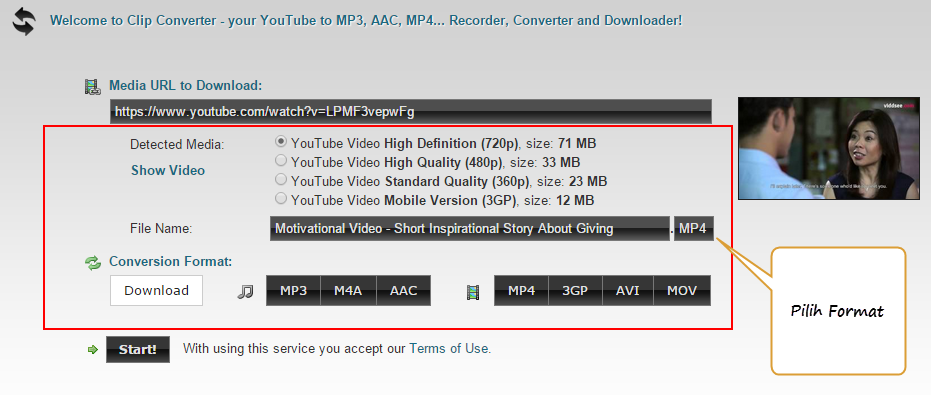 Bagaimana download video dari youtube atau video streaming lainnya
